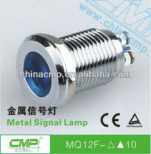 Diameter 12mm mini waterproof metal led alarm signal light