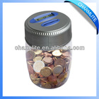Plastic Coin Jar Bank