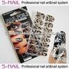 2015 new 16pcs PVC metallic nail art foil nail wrap, metallic nail sticker
