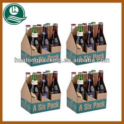 High quality 6 bottle wine cardboard bottle carrier