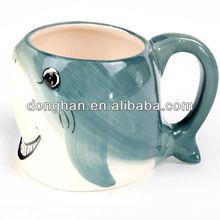 cute ceramic 3d animal sea fish kids mug with China manufacture