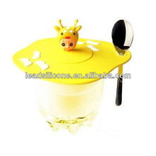 Life style Animal shaped Silico wine Cup Lid