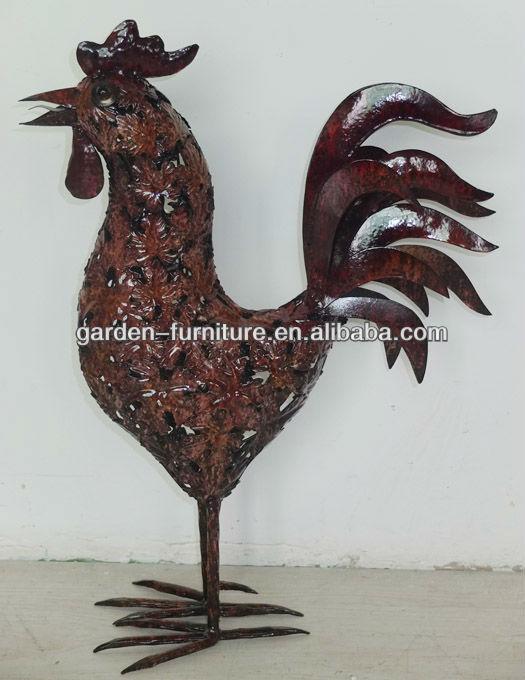 Garden Outdoor Decor Metal Decorative Rooster Figurine Buy Metal
