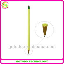 2 in 1 Metal Capacitive Touch Screen Stylus point ball Pen like pencil shape