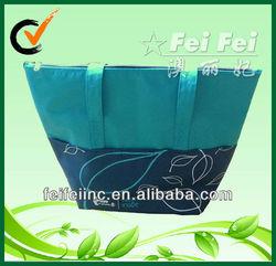 600D PU coating leaves printing outdoor cooler bag