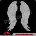 Güzel kristal zincir Döşeme için melek kanatları t- shirt