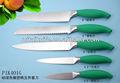 color greeen manejar cuchillo de cocina
