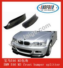 car carbon fiber front bumper splitter front lip spoiler for BMW 3 series E46 M3