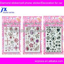 crystal cell phone stickers,high quality crystal bling stickers,DIY rhinestone diamond sticker