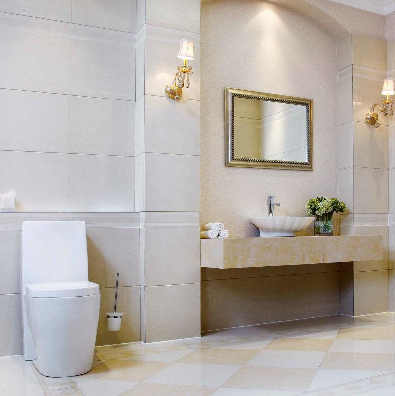 Baldosas Baño Diseno:Cuarto de baño del diseño del azulejo piso de baldosas de porcelana