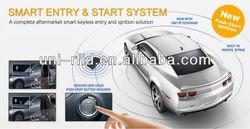 Latest technology smart car alarm- passive keyless entry with Engine push start button /remote start