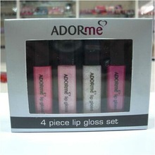 2014 popluar sales 5.5ml blowing mold shimmer moisturizing sexy lip gloss set