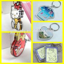 Cheap Customize promotion photo keychain / custom keychain maker / Acrylic keychain