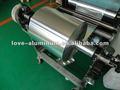Papel de aluminio rollo de rebobinado y corte de la máquina