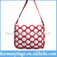 Direct factory dot printing shoulder Canvas Diaper Bag