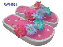 Girl Flower Slippers, Plastic girl sandals, cute girl flip flop