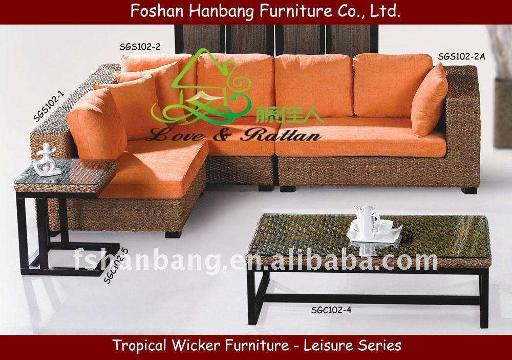 Mimbre muebles de terraza acristalada-Sofás para la Sala ...