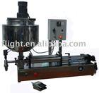 Viscous liquid heating and mixing filling machine