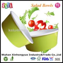 Custom Logo Printed Disposable Salad Paper Bowls with PET Lids