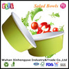 Custom Logo Printed Disposable Salad Paper Bowls with PET Lids