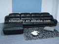 Mobília do hotel/de couro preto sofá de canto/canto sofá de couro com encosto de cabeça móvel 8169