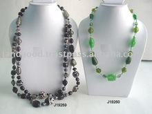 Greay Glass beads Necklace and other in two shades of green other colours also available