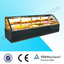 Refrigerated glass cake display (New Design)