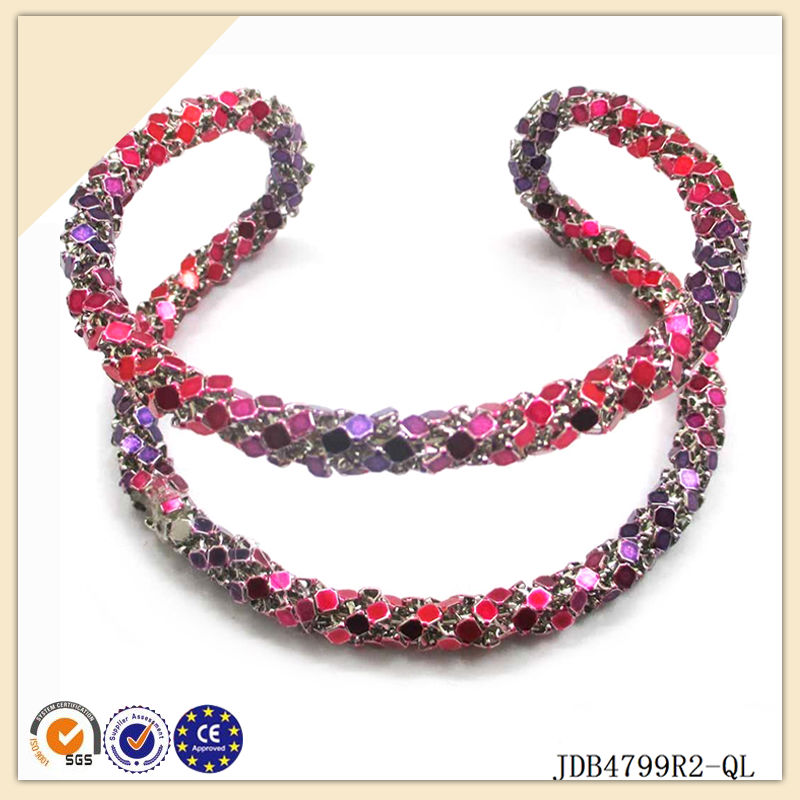 2014 hot sale new fashion pink style charming iron bracelet