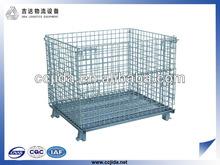 Galvanized folding wire mesh storage cage