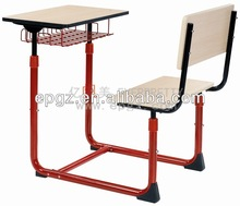 Adjustable single school desk and chair set,Electric adjustable standing desk,Height adjustable desk with wooden top