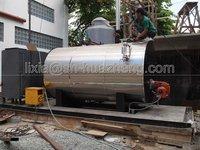 Fire Tube 3 Pass Wet Back Type 1 Ton Steam Boiler