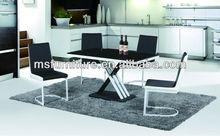 MINGSHENG 2013 new design modern dressing glass dining room table set furniture