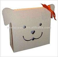 Lovely Paper Dog Shape Gift Bag Packaging Box