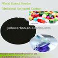 medicinal grado de carbón activado en polvo negro
