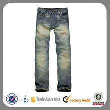 2014 homens moda denim lavado tecido jeans de marca por atacado