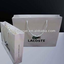 2013 good color printed art paper bag imprinted shopping