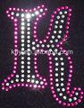 k harfi kristal taş için ütülemeye içinde mektupları dökme