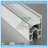60mm white casement window plastic sliding tinted glass window profile