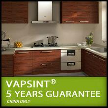 Lower price wood grain philippines modular kitchen