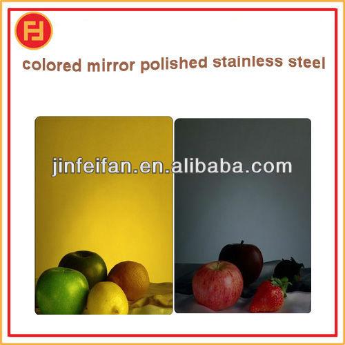 made in China no.8K mirror polishing stainless steel sheet