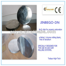High Purity Dental Alloy Disc/ Nickel-chrome ceramic alloy disc/milling disc