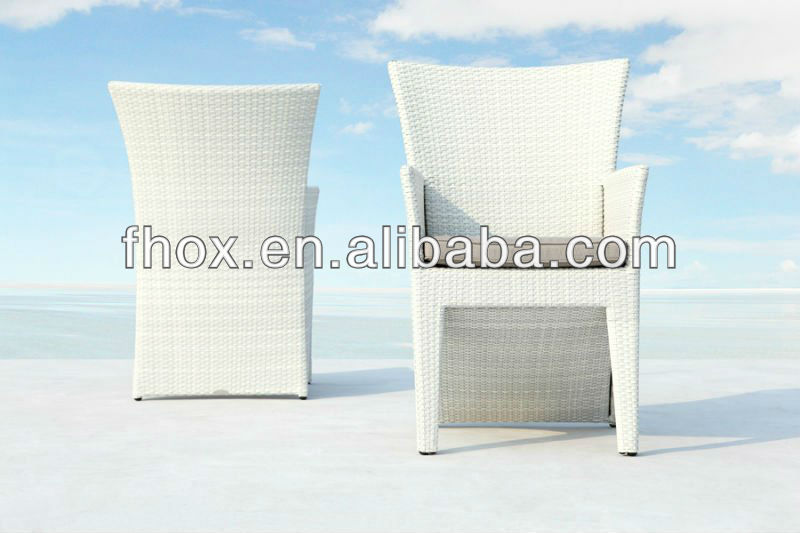 Hottest poly rattan garden chair/rattan chair/rattan dining chair with aluminum frame and all weather cushion