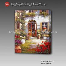 Garden landscape Oil Painting,Garden Scene on canvans