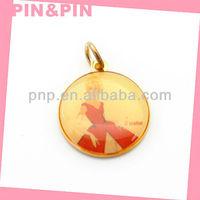 best suppliers fashion round zinc alloy photo pendant