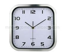 10inch quartz movement square metal wall clock