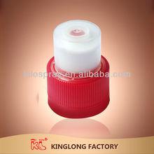 Good use ,high quality, wholesale , sports plastic 24mm 28mm PCO neck Push pull plastic cap