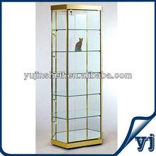 Full Vision Modern showcase corner glass display cabinet