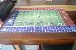 custom print design card game play mat,American baseball game mat,rubber game mat
