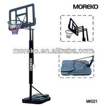 "Portable Adjustable Basketball Stand with spring rim, 44"" acrylic transparent backboard MK021"