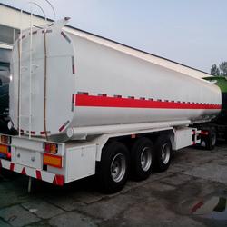 45000L stainless steel tanker, fuel tank truck trailer, 3 axle tanker
